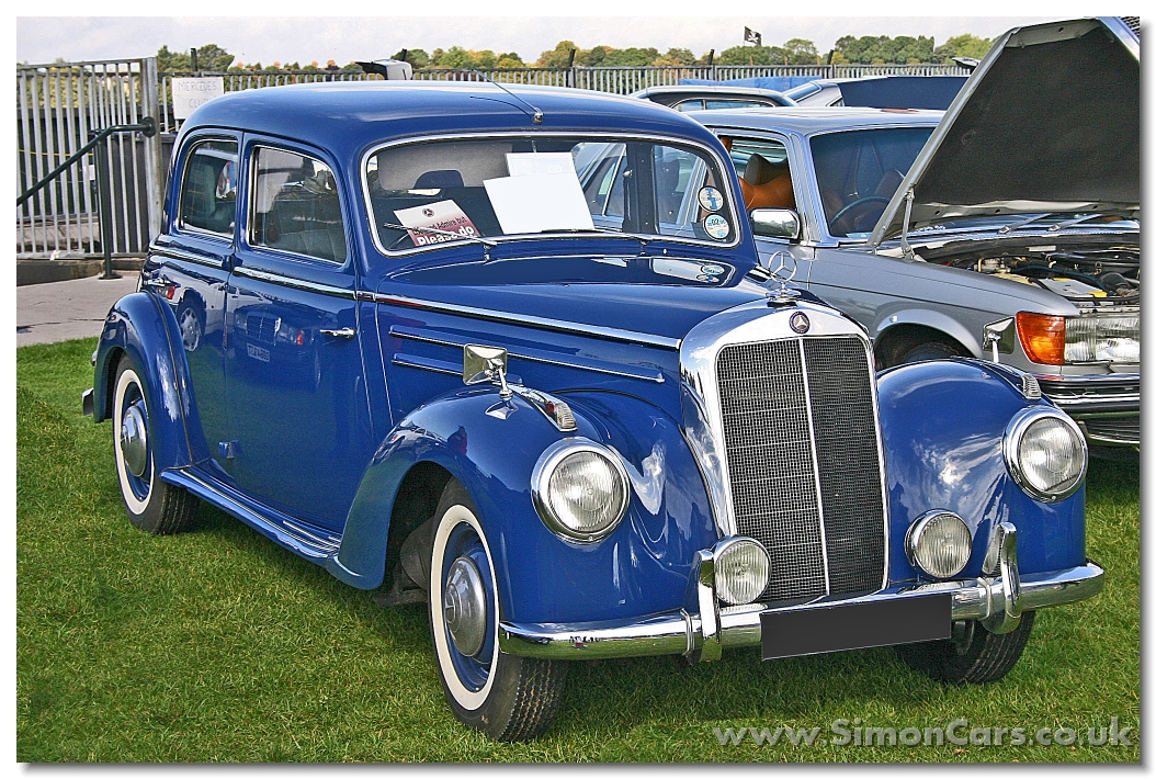 Simon cars mercedes benz cars for 1953 mercedes benz 220 sedan for sale