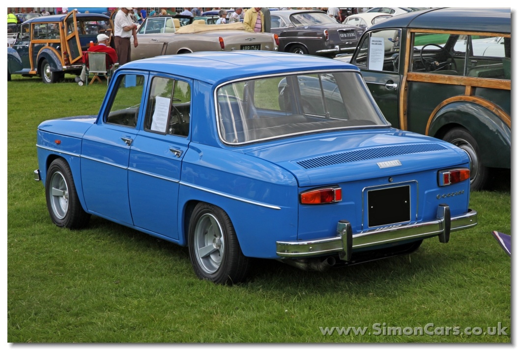 renault r8 gordini 1964 rear launched in. Black Bedroom Furniture Sets. Home Design Ideas